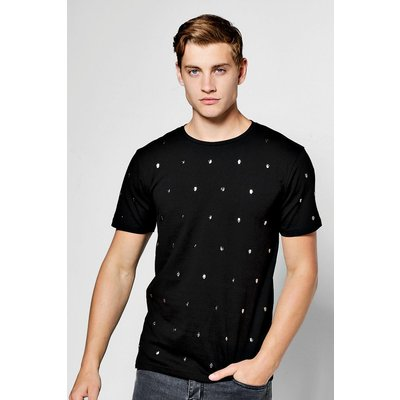 Studded T-Shirt - black