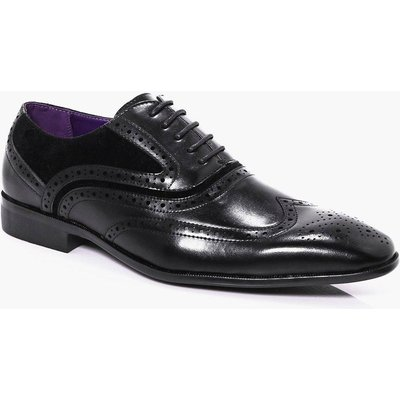 Panel Brogue - black