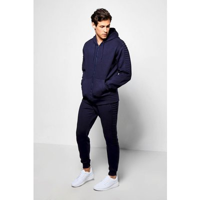 Panel Tracksuit - navy