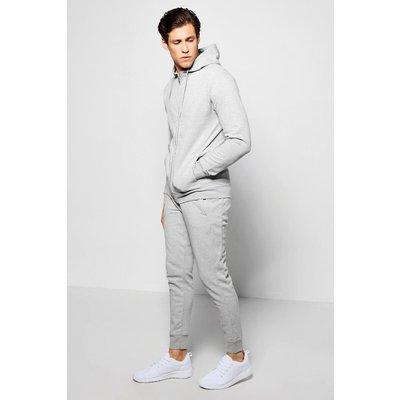 Fit Pique Tracksuit - grey