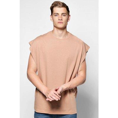 Boxy Fit Drop Arm Hole Vest - brown