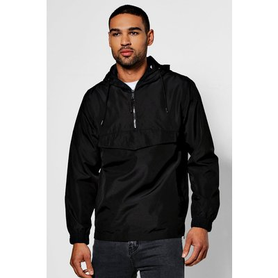 Over the Head Hooded Cagoule - black