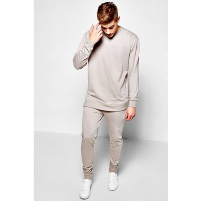 Sweater With Skinny Joggers Set - grey