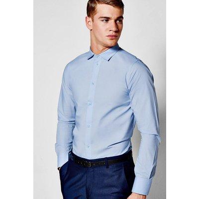 Fit Long Sleeve Smart Shirt - blue