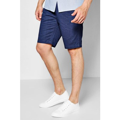 Print Chino Shorts - navy
