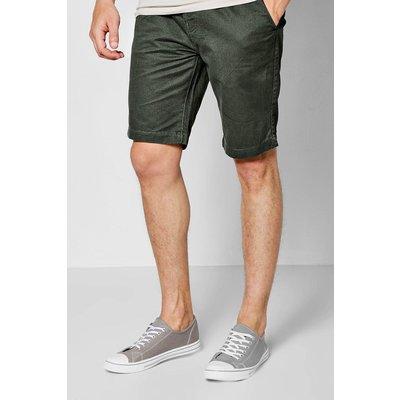 Print Chino Shorts - khaki