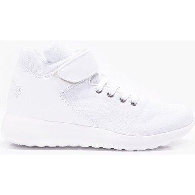 High Top Trainer With Stripe Detail - white