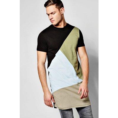 Spliced T-Shirt - slate