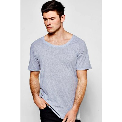 Neck Raglan T Shirt - grey marl