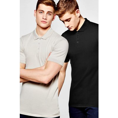 Pack Short Sleeve Muscle Fit Polos - multi
