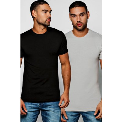 Pack Muscle Fit Crew Neck T Shirts - multi