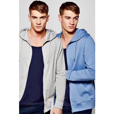 Pack Zip Through Hoodies - multi