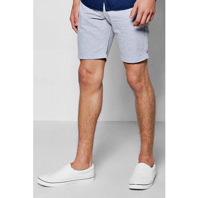 Super Skinny Textured Shorts - blue