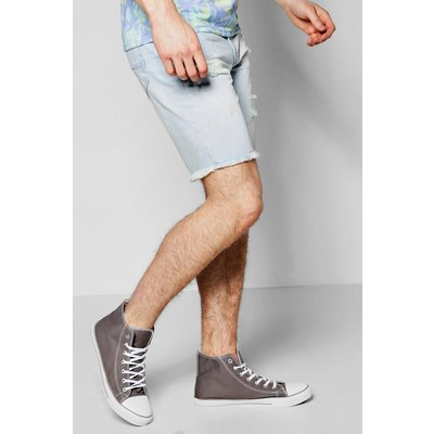 Fit Destroyed Denim Shorts - light