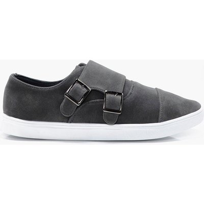 Buckle Trainers - grey