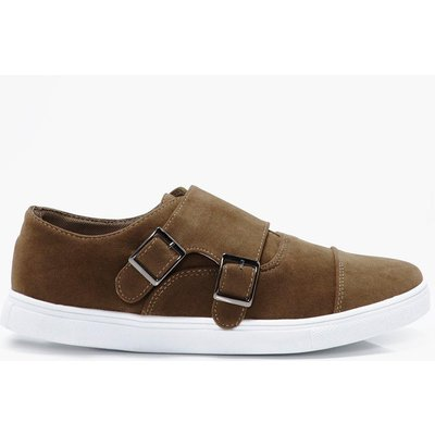 Buckle Trainers - stone