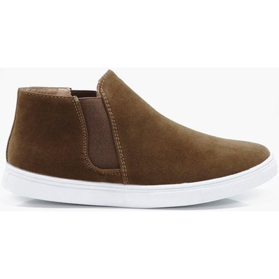 High Top Slip On - stone