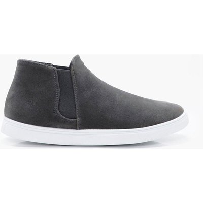 High Top Slip On - grey