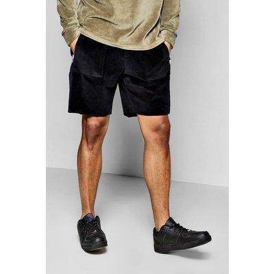 Edge Velour Shorts - black