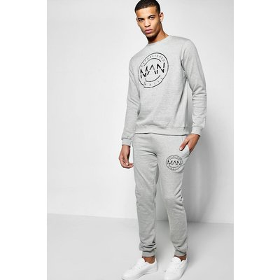 Fit MAN Sweat Tracksuit - grey