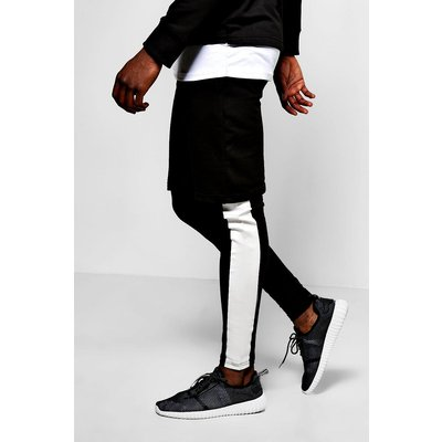 Layer Shorts/Meggings With Print - black