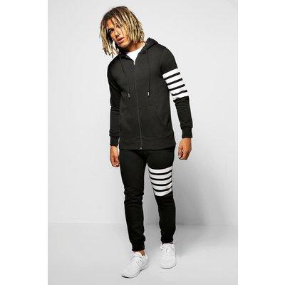Fit Stripe Tracksuit - black