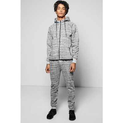 Fit Camo Hooded Tracksuit - grey