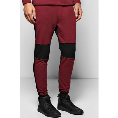 Fit Joggers with Raw Edges - black