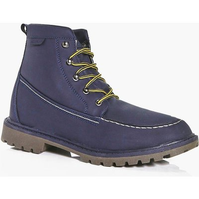 Hiking Boots With Borg Lining - navy