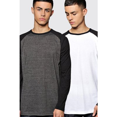 Sleeve Raglan T Shirt 2 Pack - multi