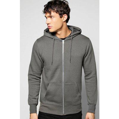 Zip Through Hoodie - grey