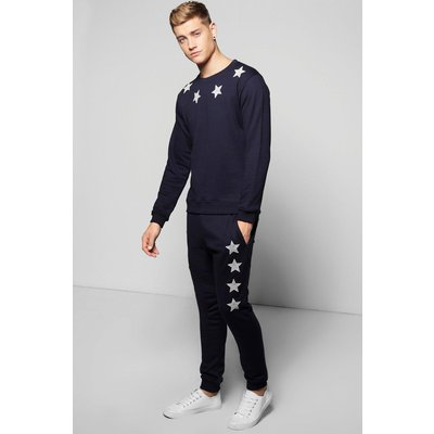 Embroidered Tracksuit - navy