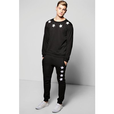 Embroidered Tracksuit - black