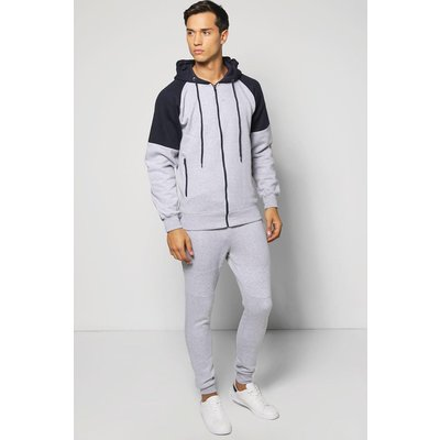 Hooded Tracksuit - grey