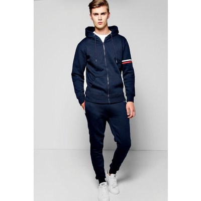 Detail Hooded Tracksuit - navy