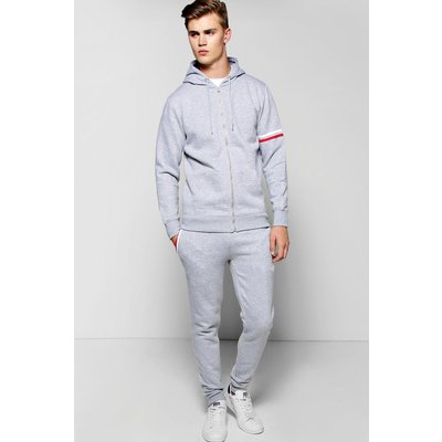 Detail Hooded Tracksuit - grey