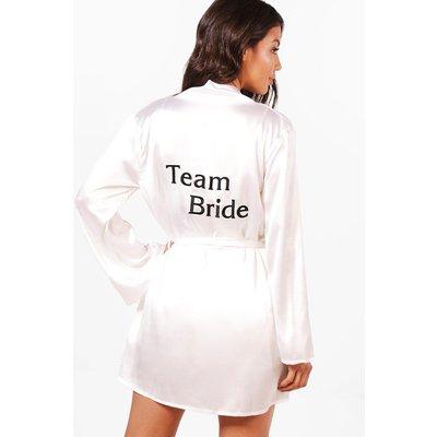 Bride To Be Satin Robe - white