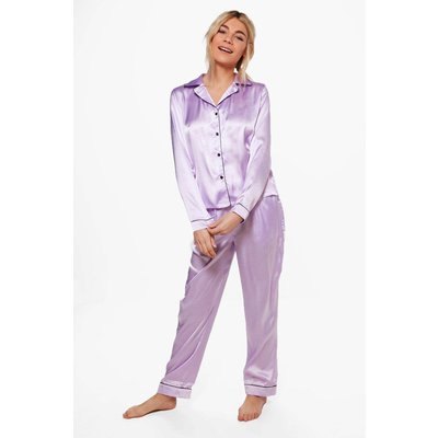 PJ With Contrast Piping - lilac