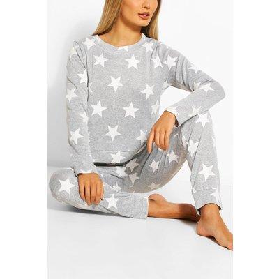 Star Print Sweat  Jogger Set - grey
