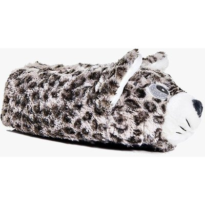 Cat Leopard Slippers - brown