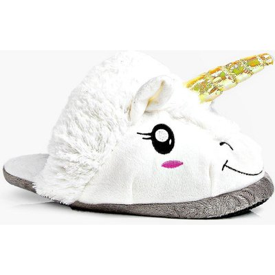 Unicorn 3D Slippers - white