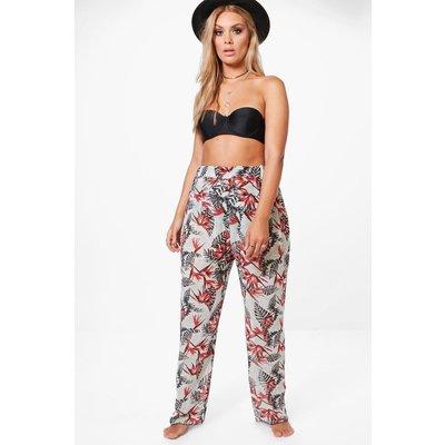 Georgie Tropical Print Beach Trouser - multi