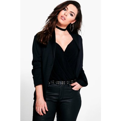 Cate Relaxed Pocket Blazer - black