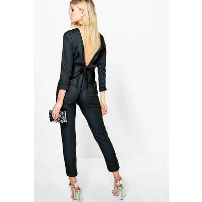 Dana Tie Back Tailored Jumpsuit - black