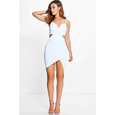 Danika Asymmetric Strappy Dress - cream