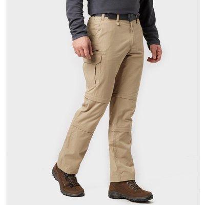 Brasher Men's Double Zip Off Trousers - Beige, Beige