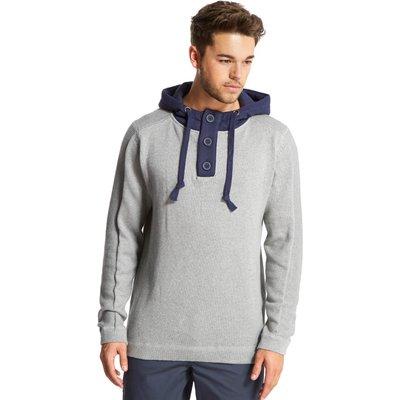 One Earth Men's Button Hoody - Grey, Grey