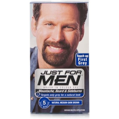 Just For Men Brush-In Facial Hair Colour - Medium-Dark Brown