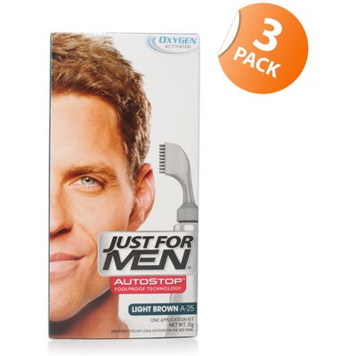 Just for Men Autostop Hair Colour 25 Light Brown - Triple Pack