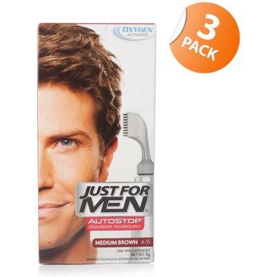 Just for Men Autostop Hair Colour 35 Medium Brown - Triple Pack